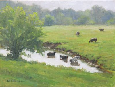 'Lazy, Hazy Days of Summer' An Original Oil Painting by Claire Beadon Carnell