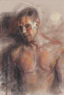 Male nude portrait study