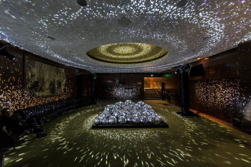 Light Leaks: A Shimmering Room Filled with Fifty Disco Balls and Hundreds of Reflected Points of Light