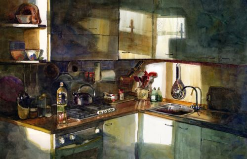 Firenze Cucina - Watercolor and Making Art More Often