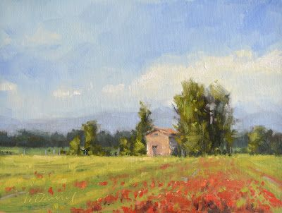 Poppy Fields of Campagna - Plein Air Magazine editorial