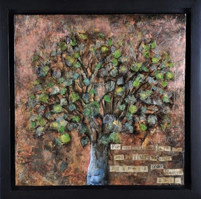 """For Every Thing There is a Season"", Original Mixed Media Painting by Colorado Artist, Donna L. Martin"