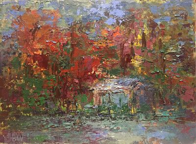 Lakeside, A painting by Julie Beth Wileman