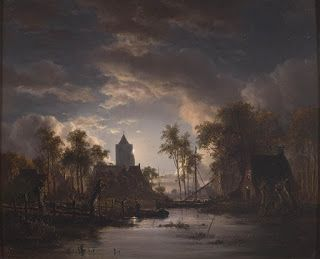 Jacob Abels, River View with Church Tower