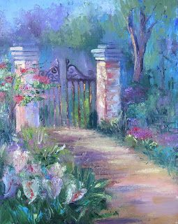 Garden Gate, New Contemporary Painting by Sheri Jones