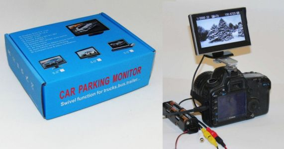 Turning a Car Parking Monitor Into a $25 DIY External DSLR Screen