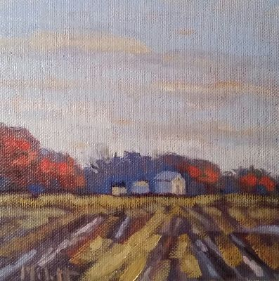 Autumn Landscape Rural Original Oil Painting and Prints Heidi Malott