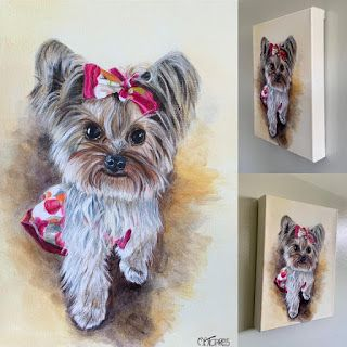 """Bella,"" by Melissa A. Torres, 9x12 acrylic on linen, Commission"