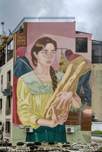 'Les Baguettes' by Dimitris Taxis in Rabat, Morocco