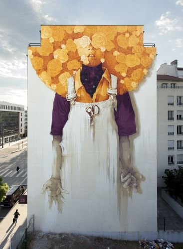 """Soleil"" by INTI in Lyon, France"