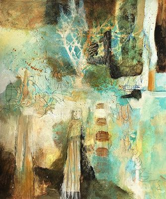 "Contemporary Art, Abstract Painting, Expressionism, Mixed Media ""ANCESTRAL MARCH"" by Contemporary Artist Liz Thoresen"