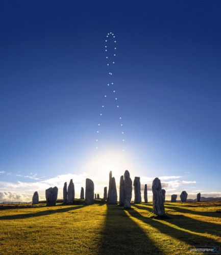 Analemma over the Callanish Stones