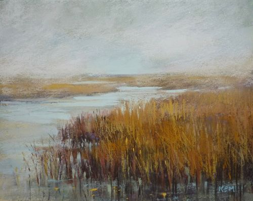 An Easy Way to Paint More Natural Grasses with Pastel