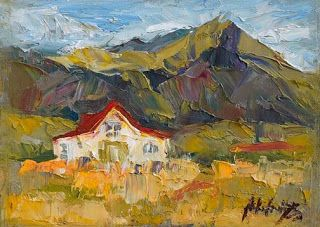 New Palette Knife Barn Painting from Iceland by Niki Gulley