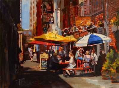 """""""The San Patricio"""" Seattle city, oil painting by Robin Weiss"""