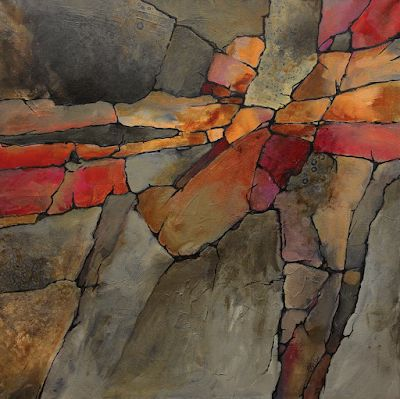"Geologic Abstract Fine Art Print ""Rainbow Canyon"" by Carol Nelson Fine Art"
