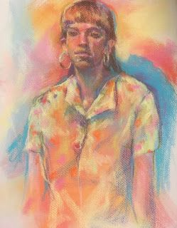 MANY COLORS - figurative pastel by Susan Roden