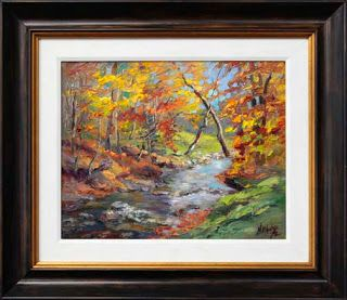 """""""X Marks the Spot"""" Fall Foliage Painting by Contemporary Impressionist Niki Gulley"""