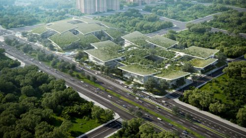 BIG Designs AI CITY, an Innovation Campus Hosting Headquarters of Tech Firm in Chongqing, China