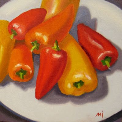 Plate of Pretty Peppers