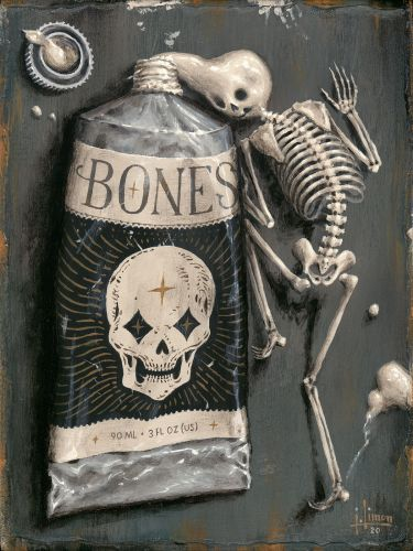 Skeletal Figures Conjure the Uncanny in Anatomical Paintings by Artist Jason Limon