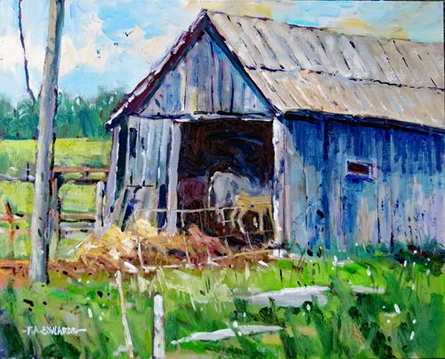 Barn Time 16in. x 20in. Oil / Canvas Panel