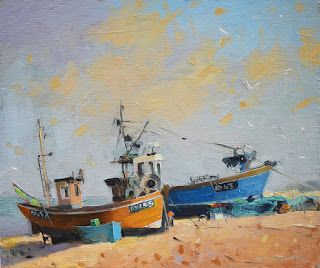 'Fishing boats in Hastings'
