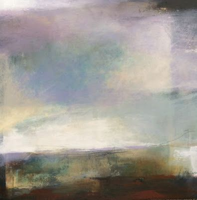 """Contemporary Abstract Landscape Art Painting """"Dimensions of Air"""" by Intuitive Artist Joan Fullerton"""