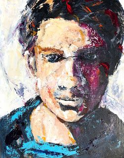 """Fearless"" - Expressive Portrait Painting by Contemporary Arizona Artist Sharon Sieben"