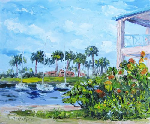 1780 Butterfly Garden at the Manatee Center Plein Air Alla Prima