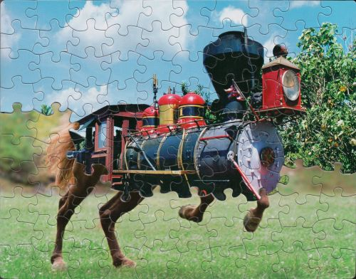 Surprising Juxtapositions of Mass-Produced Puzzles Produce Surreal New Scenes