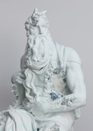 Eroded Replicas of Iconic Sculptures Reveal Crystal Formations in New Sculptures by Daniel Arsham