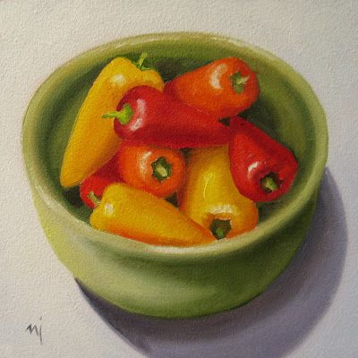 Green Bowl with Peppers