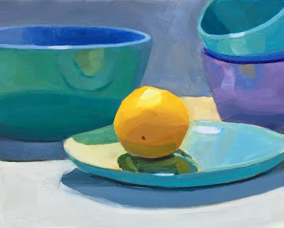 Lemon and Blue Bowl