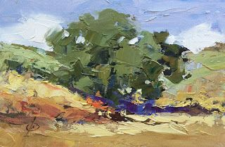 SECOND PLEIN AIR PAINTING NEW YEAR'S DAY by TOM BROWN