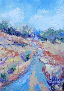 Creek Bound, New Contemporary Landscape Painting by Sheri Jones