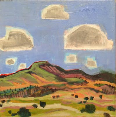 "Santa Fe Landscape Painting ""GHOST RANCH VIEW"" by Santa Fe Artist Annie O'Brien Gonzales"