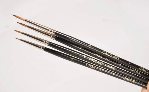 Review: Cass Art Sable Brushes