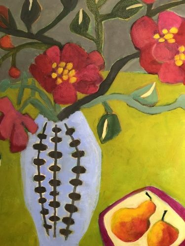 Contemporary Expressionist Still Life Painting by Santa Fe Artist Annie Gonzales