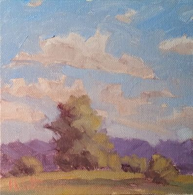 Contemporary Art Summer Landscape Oil Painting
