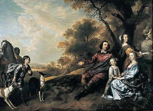The 17C Family Portrayed Outdoors in Hunt Park