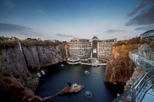 The World's First Quarry Hotel Opens in China, Designed by JADE + QA