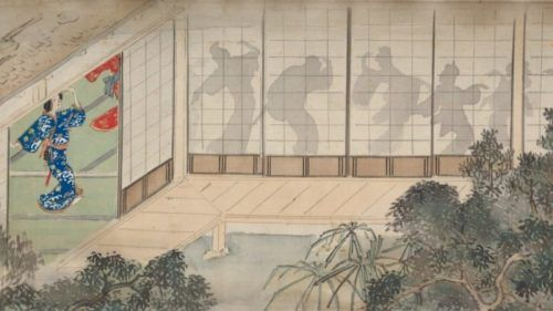 Dancing with your shadow, Yamomoto Baiitsu and Kitagawa Utamaro