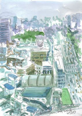 Sketches around Jongno Tower, Jongno