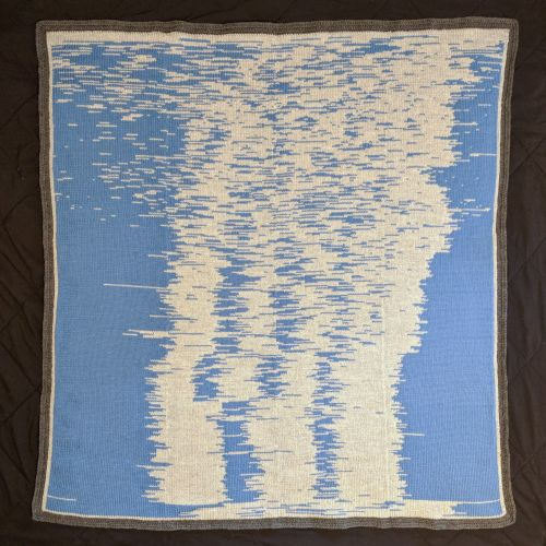 A Father Transformed Data into a Knitting Pattern to Handcraft a Blanket Visualizing his Son's First Year of Sleep
