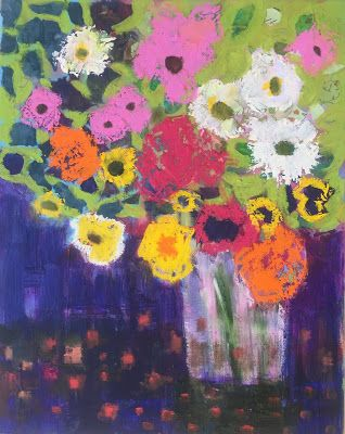 """Abstract Flowers, """"Spring,"""" by Amy Whitehouse"""