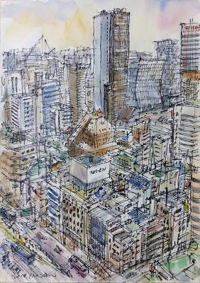 Sketches at Jongno Tower building, Seoul