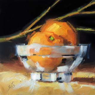 ORANGES IN GLASS BOWL by TOM BROWN