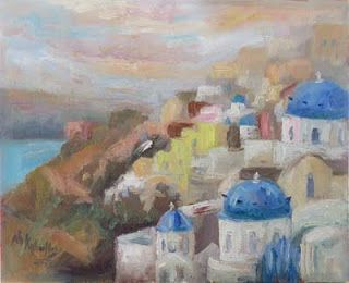 """""""Tranquil Morning"""" from Santorini, Greece by Niki Gulley"""