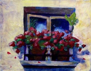 Figuratively Speaking - Geraniums on the Window Sill